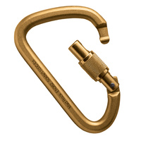 XL Steel D Screw Lock Gold