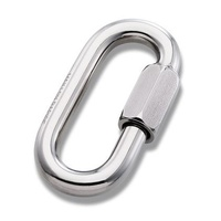 Steel Wide Opening Oval Quicklink Mallion 8mm